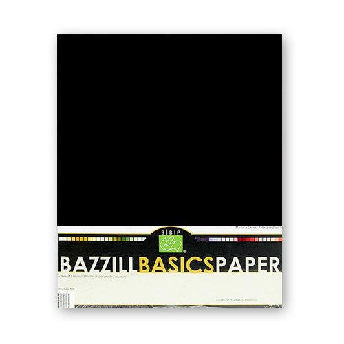 Bazzill Basics - Bulk Cardstock Pack - 25 Sheets - 8.5 x 11 - Black