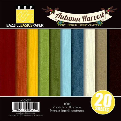 Bazzill Basics - Margie Romney Aslett - Autumn Harvest Collection - 6 x 6 Coordinating Cardstock Multipack