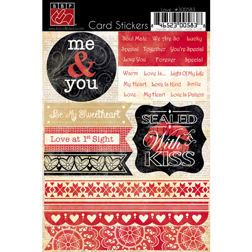 Bazzill Basics - Cardstock Stickers for Card Making - Love