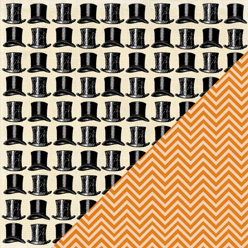 Bazzill Basics - Janet Hopkins - Arsenic and Lace Collection - 12 x 12 Double Sided Paper - Top Hats