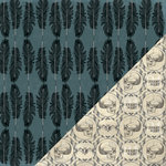 Bazzill Basics - Janet Hopkins - Arsenic and Lace Collection - 12 x 12 Double Sided Paper - Feathers