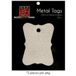 Bazzill Basics - Metal Tags - Antique Rectangle