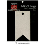 Bazzill Basics - Metal Tags - Banner Tag