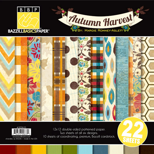 Bazzill Basics - Margie Romney Aslett - Autumn Harvest Collection - 12 x 12 Assortment Pack