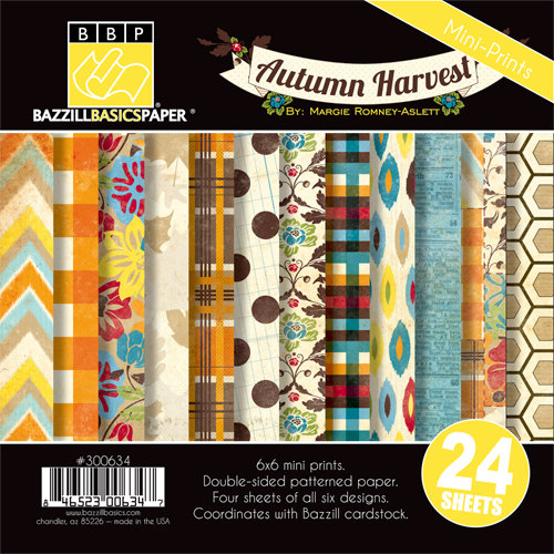 Bazzill Basics - Margie Romney Aslett - Autumn Harvest Collection - 6 x 6 Assortment Pack