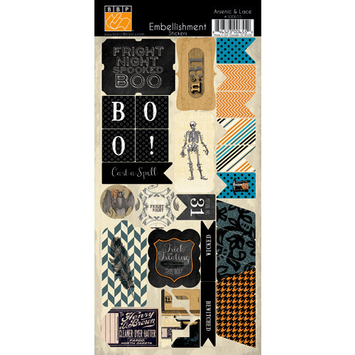 Bazzill Basics - Janet Hopkins - Arsenic and Lace Collection - Cardstock Stickers