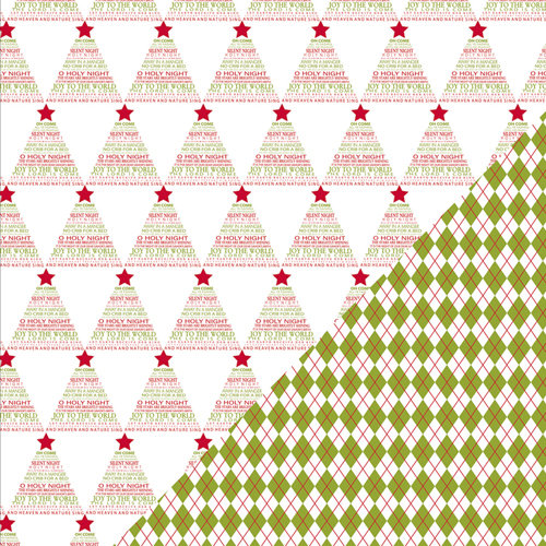 Bazzill Basics - Sweetwater - Countdown to Christmas Collection - 12 x 12 Double Sided Paper - Nature Sings