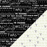 Bazzill Basics - Sweetwater - Countdown to Christmas Collection - 12 x 12 Double Sided Paper - Twas The Night