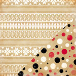 Bazzill Basics - Margie Romney Aslett - Nordic Pines Collection - 12 x 12 Double Sided Paper - Nordic Sweater