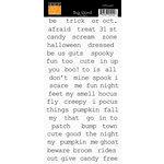 Bazzill Basics - Cardstock Stickers - Big Word - Halloween