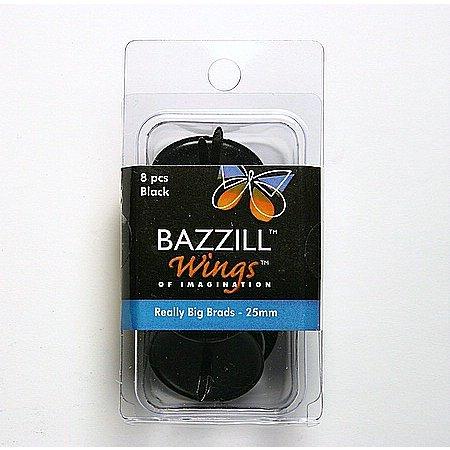 Bazzill Basics - Really Big Brads - 25 mm - Black, CLEARANCE