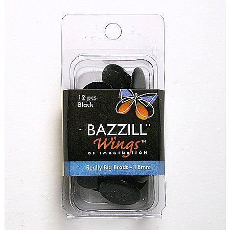 Bazzill Basics - Really Big Brads - 18 mm - Black
