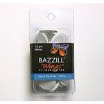 Bazzill Basics - Really Big Brads - 18 mm - White