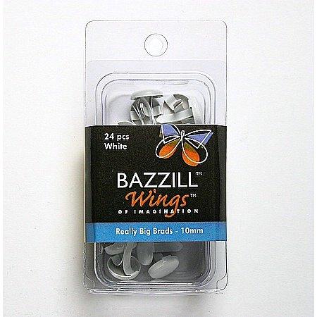 Bazzill Basics - Really Big Brads - 10 mm - White, CLEARANCE