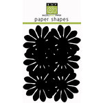 Bazzill Basics - Paper Shapes - Flowers - 6 Pieces - Gerbera - Black