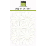 Bazzill Basics - Paper Shapes - Flowers - 6 Pieces - Gerbera - White