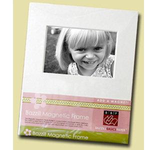 Bazzill Basics Large Magnetic Photo Frame - 4 x 6 - White
