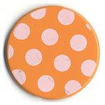 Bazzill Basics - Polka Dot Brads - 25 mm - Apricot