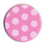 Bazzill Basics - Polka Dot Brads - 25 mm - Petunia, CLEARANCE