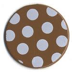 Bazzill Basics - Polka Dot Brads - 25 mm - Walnut, CLEARANCE