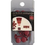 Bazzill Basics - Mono Trio Brads - Round 10mm - Pomegranate