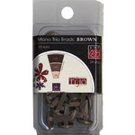 Bazzill - Mono Trio Brads - Round 10mm - Brown