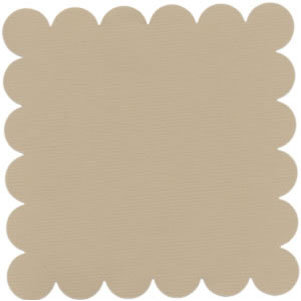 Bazzill Basics - 12x12 Scalloped Cardstock - Champagne, CLEARANCE