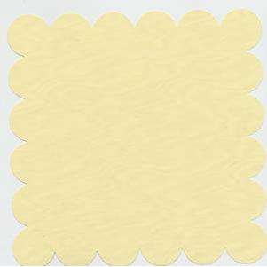 Bazzill Basics - 12x12 Scalloped Cardstock - Chiffon, CLEARANCE