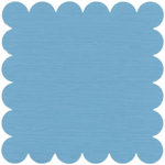 Bazzill Basics - 12x12 Scalloped Cardstock - Summer Rain