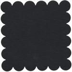 Bazzill Basics - 12x12 Scalloped Cardstock - Coal