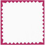 Bazzill Basics - 12x12 Pinked Cardstock - White/OP, CLEARANCE