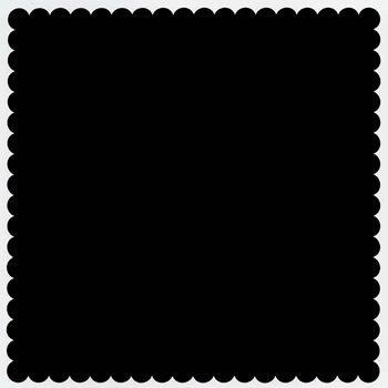 Bazzill Basics - 12x12 Mini Scallop Cardstock - Coal