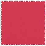 Bazzill Basics - 12x12 Mini Scallop Cardstock - Wildberry