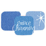 Bazzill Basics - Bazzill Bling Trios - Shimmer Cardstock - Prince Charming Bling, CLEARANCE