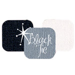Bazzill Basics - Bazzill Bling Trios - Shimmer Cardstock - Black Tie Bling