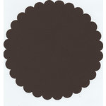 Bazzill Basics - 12x12 Medium Scallop Circle Cardstock - Brown