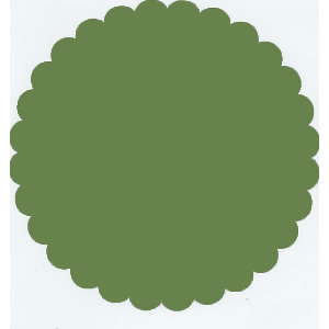 Bazzill Basics - 12x12 Medium Scallop Circle Cardstock - Guacamole - Green, CLEARANCE