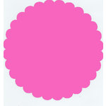 Bazzill Basics - 12x12 Medium Scallop Circle Cardstock - Bloom - Pink
