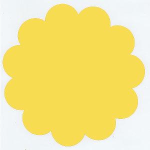 Bazzill Basics - 12x12 Flower Cardstock - African Daisy - Yellow, CLEARANCE