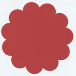Bazzill Basics - 12x12 Flower Cardstock - Watermelon - Red