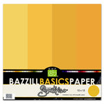 Bazzill Basics - Bazzill Smoothies - 4 Colors - 12x12 Cardstock - Pineapple Bliss, CLEARANCE