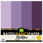Bazzill Basics - Bazzill Smoothies - 4 Colors - 12x12 Cardstock - Boysenberry Delight, CLEARANCE