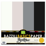 Bazzill Basics - Bazzill Smoothies - 4 Colors - 12x12 Cardstock - Blackberry Swirl, CLEARANCE