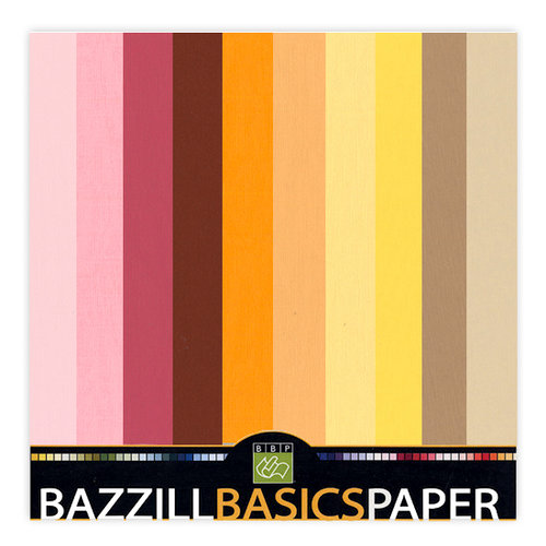 Bazzill Basics - 12x12 Carstock Multipack - Burlap Warm