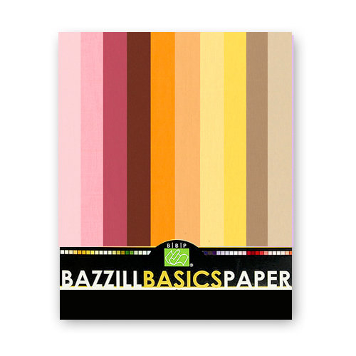 Bazzill - 8.5x11 Carstock Multipack - Burlap Warm