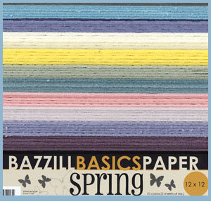 Bazzill Basics - 12x12 Cardstock Multipack - Spring