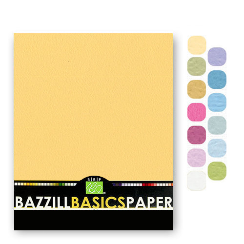 Bazzill - Cardstock Pack - 8.5 x 11 - Light Orange Peel Texture