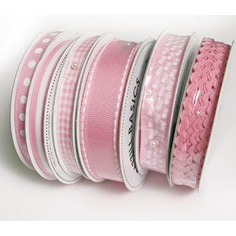 Bazzill Basics - Ribbon Bulk Pack - 90 Yards - Pink