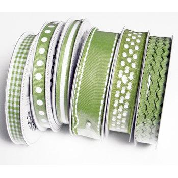 Bazzill Basics - Ribbon Bulk Pack - 90 Yards - Green, CLEARANCE