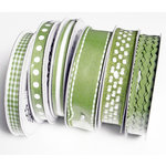 Bazzill Basics - Ribbon Bulk Pack - 90 Yards - Green, CLEARANCE